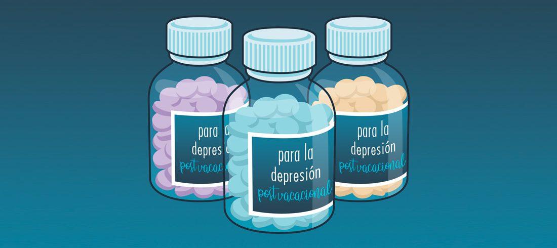Pastillas para la depresión post vacacional
